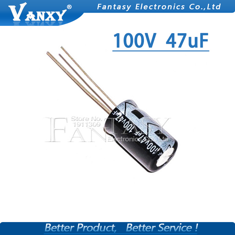 20PCS Higt Quality 100V47UF 8*12mm 47UF 100V 8*12 Electrolytic Capacitor