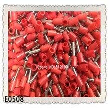 1000 шт 22AWG 0.5mm2 изолированный шнура оконечный провода E0508