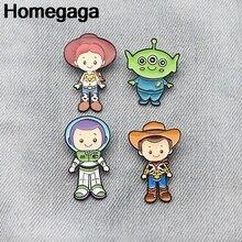Homegaga cartoon Zinc Cartoon Pins for men women para Shirt Charm Coat Clothes backpack Accessories medal Badge Brooches D2142