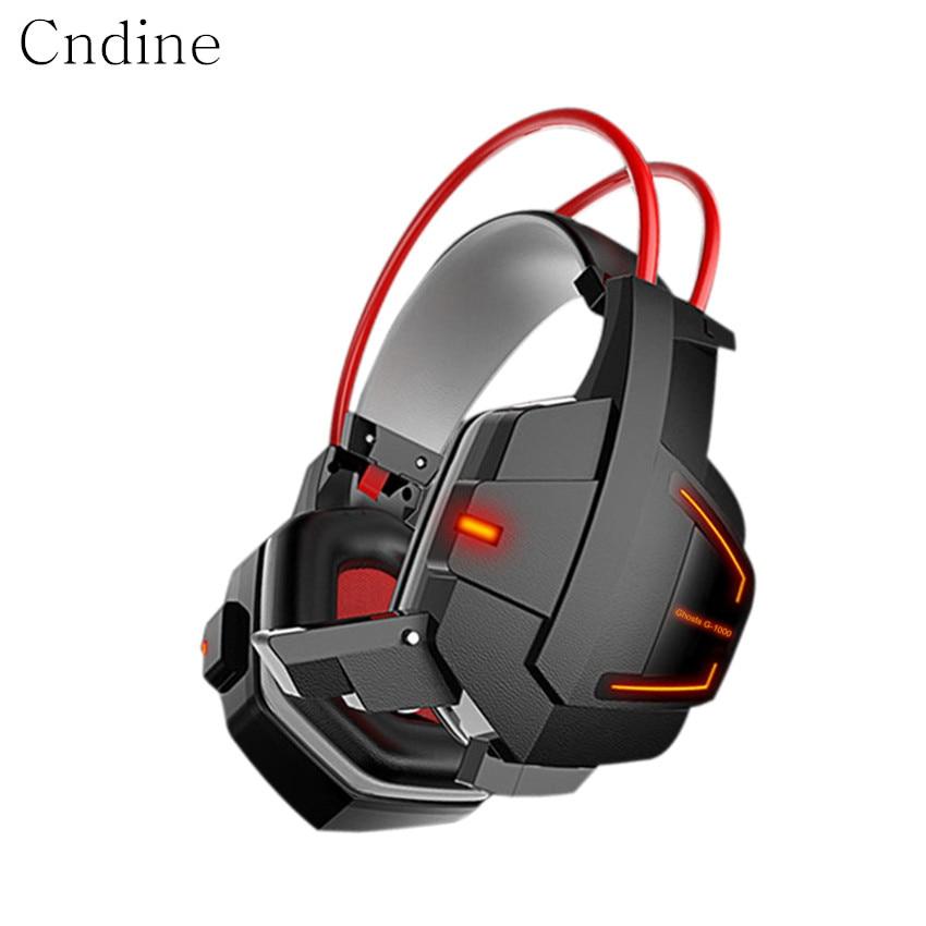 Casque Gaming précision basse avec Microphone actif suppression de bruit casque LED brillant jeu casque-3 couleurs