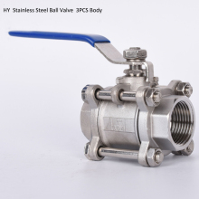 1/4 3/8  1/2 3PC Thread Ball Valves Stainless Steel SS304 Valve with Vinyl Handle, Heavy type