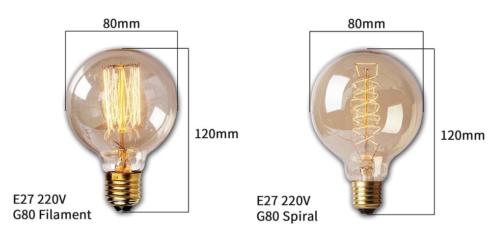 Henley 4/×Neverland E27 40W 50V-220V T300 Edison Lampe Filament Gl/ühlampe Retro Licht Vintage Gl/ühbirne Antik Beleuchtung Warmwei/ß