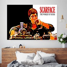 Scarface Movie Artwork Canvas Art Print Painting Poster Wall Picture For Living Room Home Decorative Bedroom Decor No Frame
