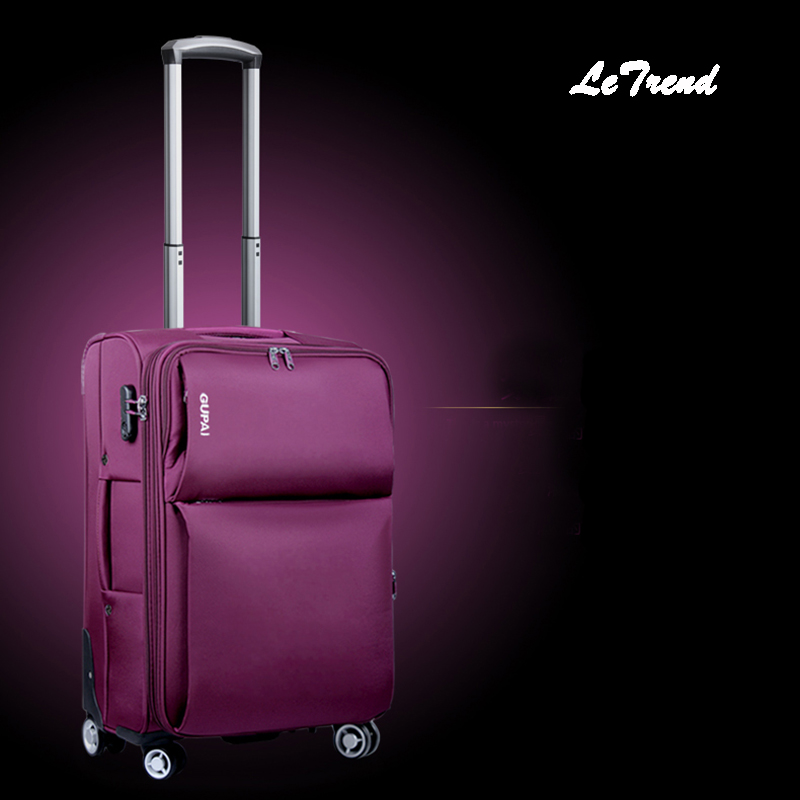 Letrend Oxford Men Rolling Luggage Spinner Travel Bag Suitcases Wheel Trolley Business Carry On luggage Women password Trunk