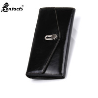 2018 Leather Women Wallets Fashion Designed Woman's wallets Real Leather Wallet Genuine Leather Black/Red Colors