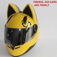 Discount NITRINOS Motorcycle Helmet Women Moto Ear Helmet Personality Full Face Motor Helmet 4 Colors Pink