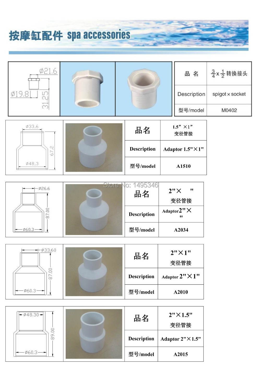 Aliexpress buy different size pvc concentric reducer