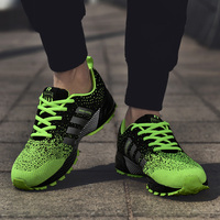 Men Sports Shoes 2019 Breathable Mesh Outdoor Men's Running Shoes Comfortable Lace Up Male Shoes Spring Autumn Men Sneakers