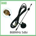 868Mhz 900-1800 Mhz GSM Antena 3G 5dbi SMA Macho Com 300 centímetros de Cabo 868 mhz 915 mhz antena Antenne Otário base antenas magnéticas