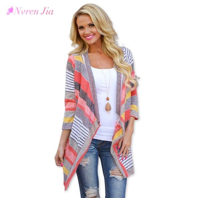 Women Autumn Jacket 2018 Fashion Summer Coat Long Sleeve Open Stitching Coat Casual Women Clothes Patchwork Bayan Ceket 6010