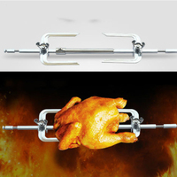 24L 40L Stainless Steel Grill Roaster Drum BBQ Rotisserie Ovenware Skewers Oven Rotate Roast Chicken Shelf