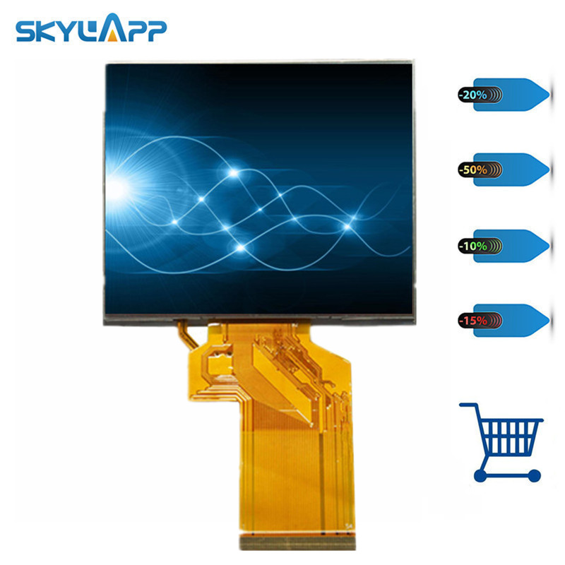 Skylarpu 3.5 inch LCD display Screen panel for Satlink <font><b>WS</b></font> <font><b>6909</b></font> <font><b>WS</b></font>-<font><b>6909</b></font> satellite Finder Meter lcd screen Free shipping image