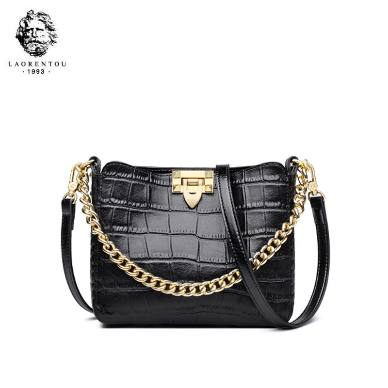 LAORENTOU 2019 New women Genuine Leather bags Cowhide Crocodile pattern Fashion Luxury women Leather shoulder Crossbody bagsLAORENTOU 2019 New women Genuine Leather bags Cowhide Crocodile pattern Fashion Luxury women Leather shoulder Crossbody bags