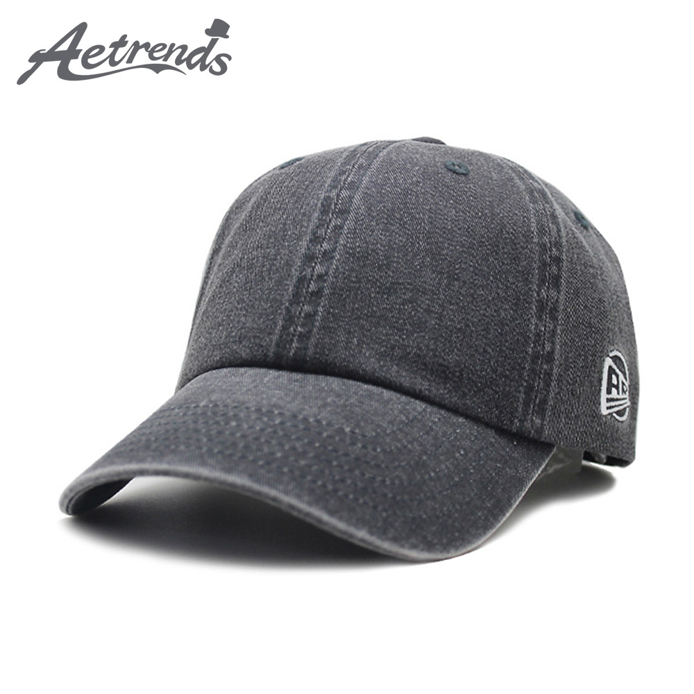 [AETRENDS] 5 Solid Colors Washed Baseball Cap Men Women Cotton Fitted Caps Snapback Hat Bone Gorras Casual Casquette Z-6880