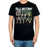 Envío gratis vestido como fall out boy Rock And roll Punk rock popular verano En Negro T-shirt