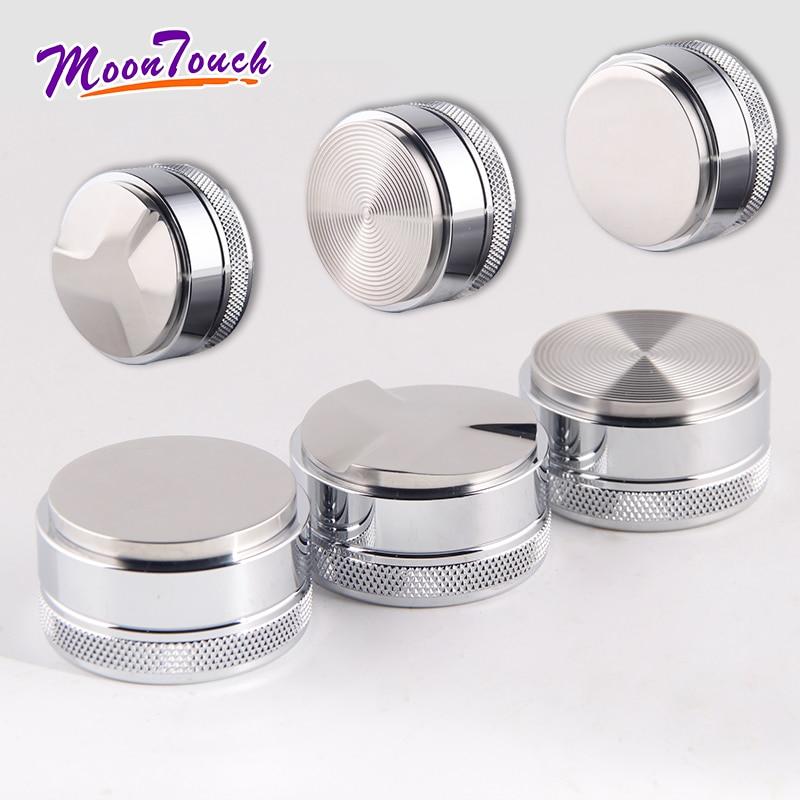 Mirror Light Macaron Coffee Tamper Stainless Steel 58MM Maracoon Distributor Powder Hammer Accessori