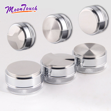 Mirror Light Macaron Coffee Tamper Stainless Steel 58MM Maracoon Distributor Powder Hammer Accessori