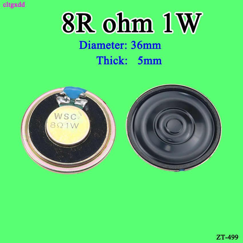 Cltgxdd جديد رقيقة جدا صغيرة المتكلم 8 أوم 1 واط 1 واط 8R المتكلم قطرها 20 مللي متر 26 مللي متر 32 مللي متر 36 مللي متر 2 سنتيمتر سمك 4 مللي متر 4.5 مللي متر 5 مللي متر