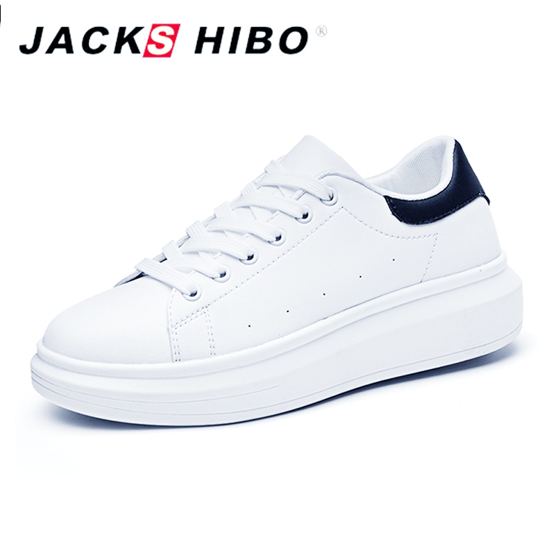 JACKSHIBO Fashion Women Shoes Comfortable Thick Soled Design Sneakers Women Platform Ladies Shoes White Color Chaussures Femme