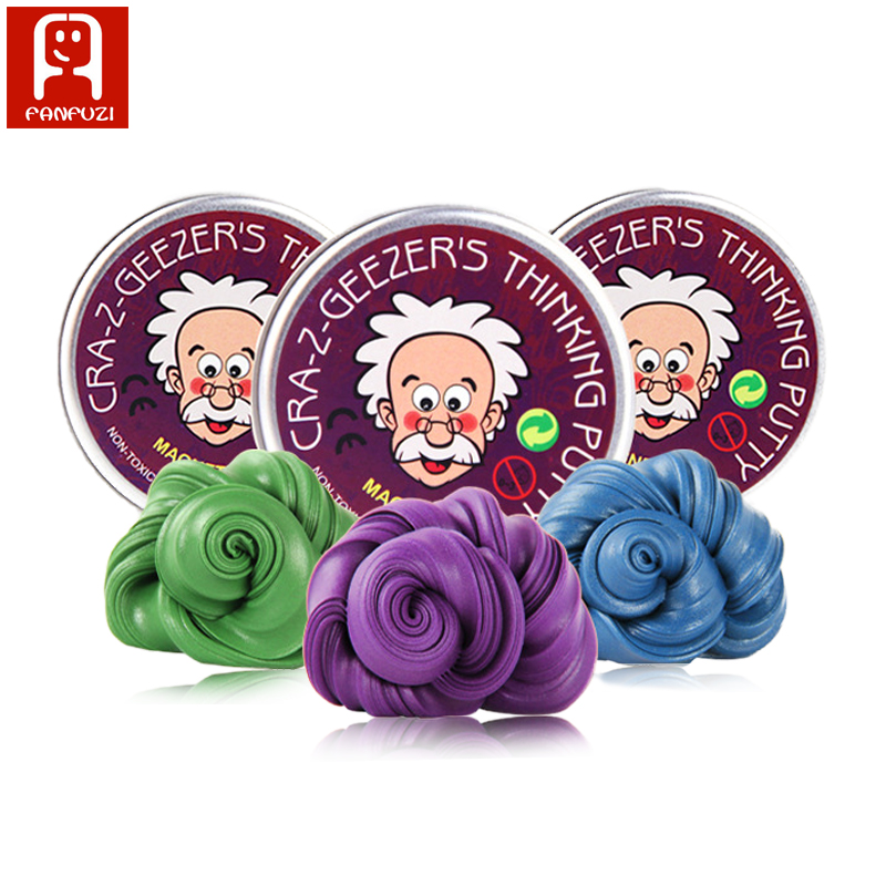 6 colors 50g hot sale bouncing clay magnetic thinking putty toys novelty Toys play dough for kids educational