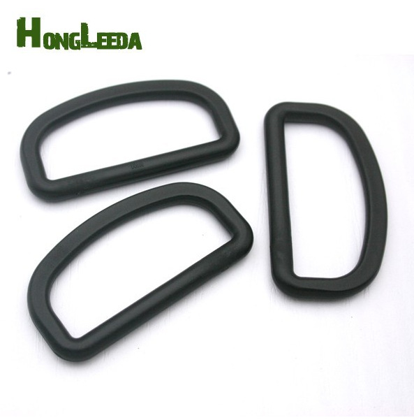 Wholesale Free shipping 50pcs 51mm 2inch black adjustable buckles plastic slider buckle D ring backpack webbing straps M313-50