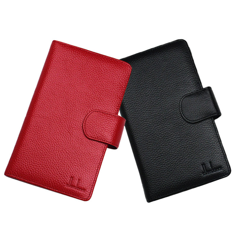 Купить с кэшбэком 114 Slots Genuine Leather Credit Card Holder Business Card Case High Quality Bank/ID Card Holder Luxury Card Bags Large Capacity