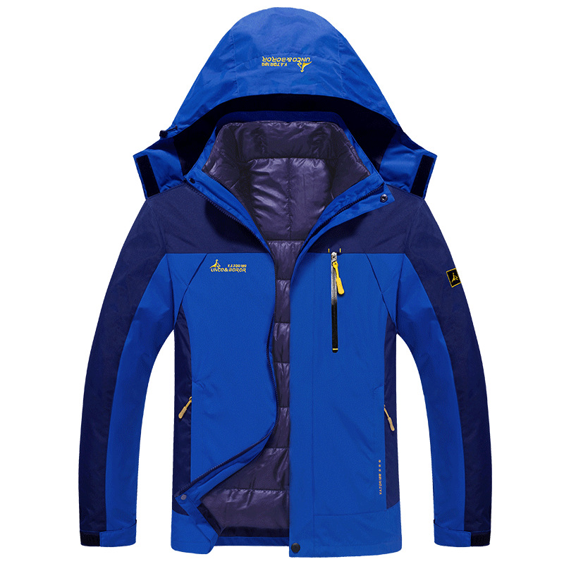 2 in 1 Ski Jacket Men Waterproof Snowboard Jacket Thermal Coat For Mens Winter Outdoor Mountain Skiing Snow Jackets Plus Size