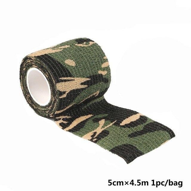 Dynamovolition Rouleau Durable Hommes Arm/ée Adh/ésif Camouflage Bande Stealth Wrap en Plein Air Randonn/ée Camping Chasse Tir Outil de Chasse Chasse Stealth Wrap Camouflage