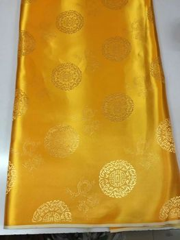 8 Meters/pc Hot sale gold african cotton fabric and round pattern embroidery swiss voile lace for clothes JC19-4