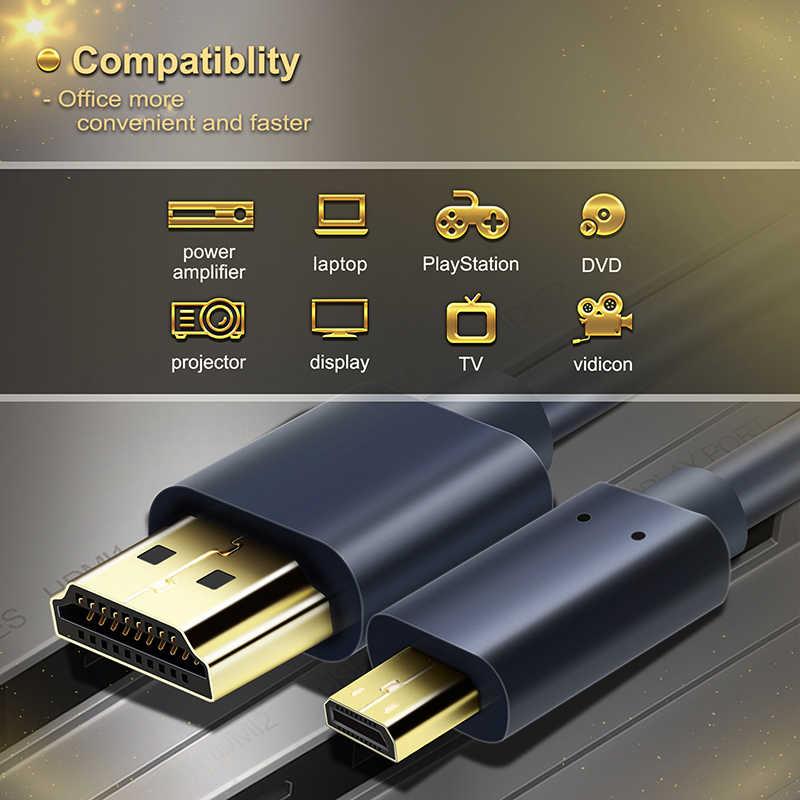 Cabletime micro hdmi a hdmi Cable chapado en oro de Bi-direccional HDMI cable 2k * 4k 2,0 HD de gran calidad HDMI Cable para PS4 caja N117