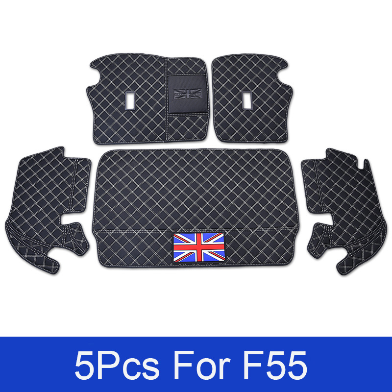 Car Accessories Auto Rear Boot Liner Trunk Cargo Floor Mat Tray Carpet Protector For BWM Mini Cooper 5 Doors F55 Car-styling for mazda 3 5 6 axela atenza wagon m2 m8 mx5 all model boot liner rear trunk cargo mat tray carpet 2011 2012 2013 2014 2015 2016