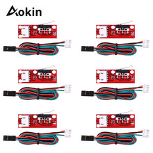 Interruptor de parada para arduino, interruptor de limite final + cabo de alta qualidade, mecânico de parada final, 1/peças para rampas da impressora 3d 1.4