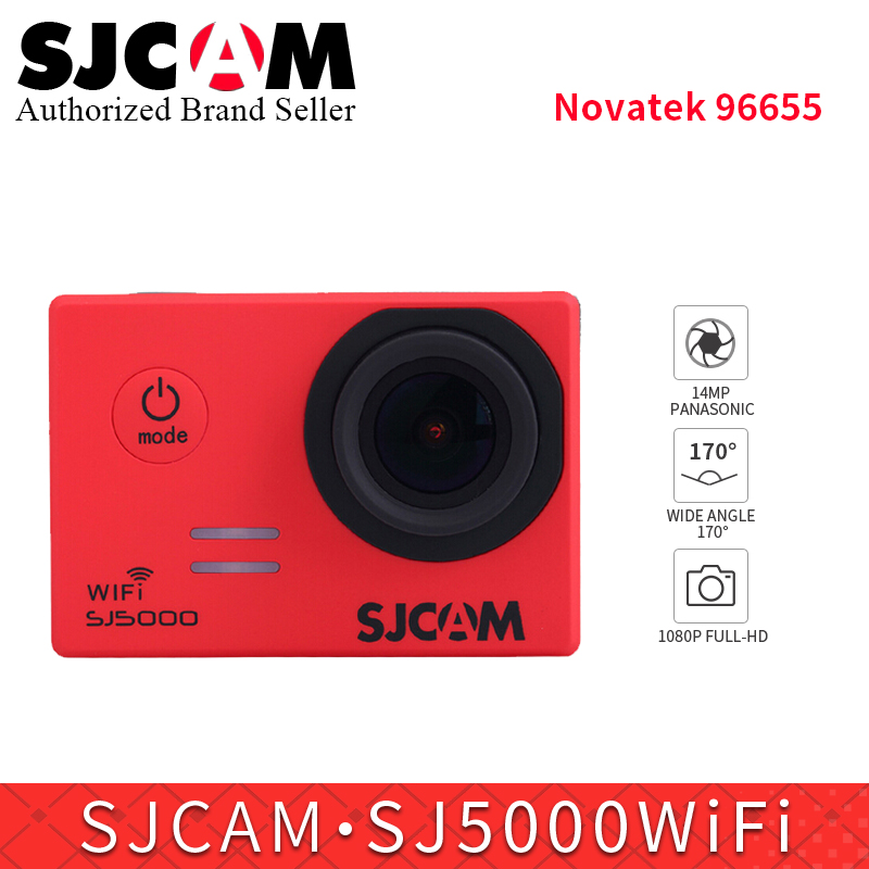 Original SJCAM SJ5000 WiFi Action Camera 14MP 1080P HD Waterproof sports DV Helmet cam mini Camcoder better than EKEN H9R H8pro