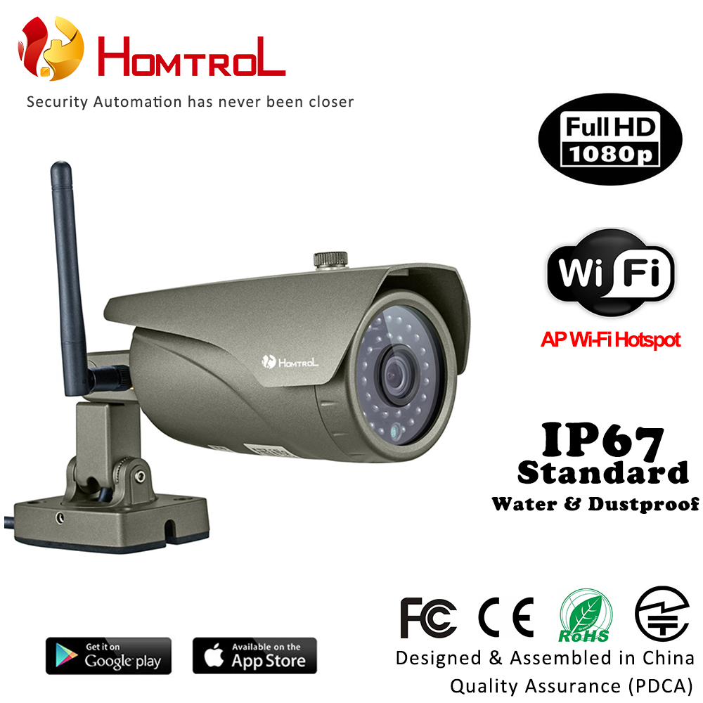 Wifi AP Hotspot HD 1080P 2 Mega Pixel Wireless Home Security IP Camera with Digital Zoom IP67 Bullet IP Camera ap connection cloud storage 1080p wifi ip bullet camera