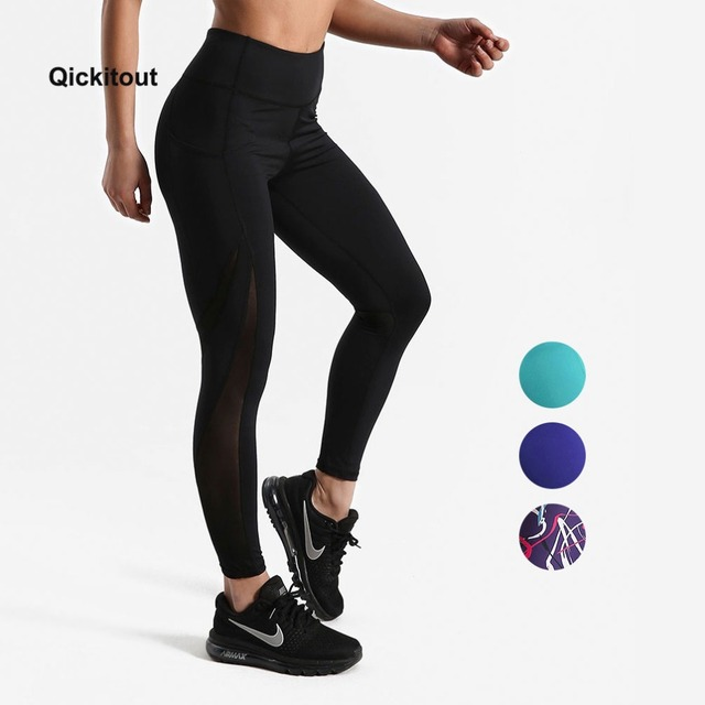 8d9cb646862 Women Mesh Pants Fitness Leggings Sporting Workout Leggings Elastic Trousers  Slim Striped Printed Pants High Waist Leggings