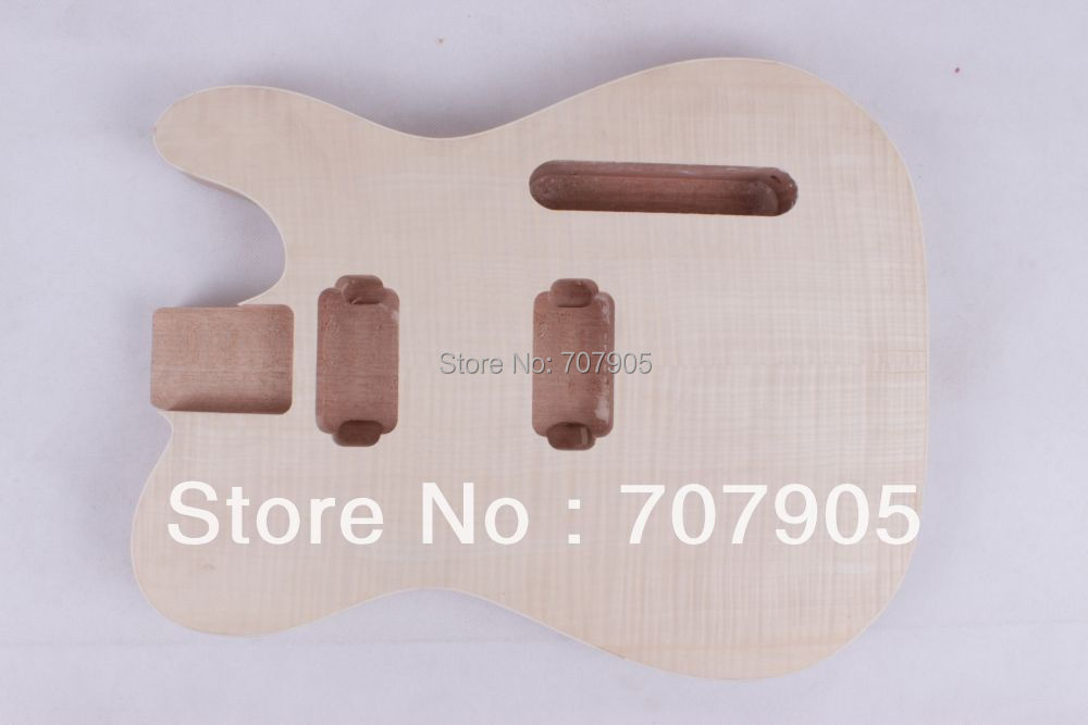 New electric guitar body Unfinished Mahogany body flame maple veneer top solid body electric guitar spalted flame body top mahogany body and neck natural brown finished body top soild black back free shipping