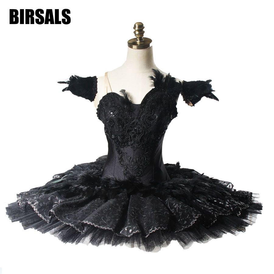 Производительность Черный Лебединое озеро охранников Профессиональный Балетные костюмы пачка Для женщин Классическая Балетные костюмы с