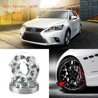 4pcs 1 Wheel Spacers Adapters 5 Lug 5x3.9/5x100 12x1.5 Studs For Lexus CT 2011+