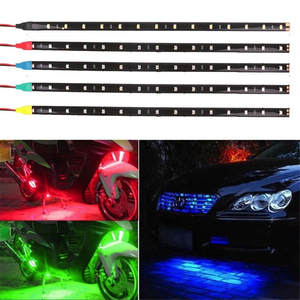 Image 2 - 12V Car Interior Led Strip Sticker Daytime Running Lights Waterproof Flexible Car Light 4 Color
