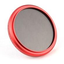 FOTGA Ultra Slim 52mm מדעך מתכוונן משתנה ND עדשת מסנן ND2 ND8 ND400 אדום