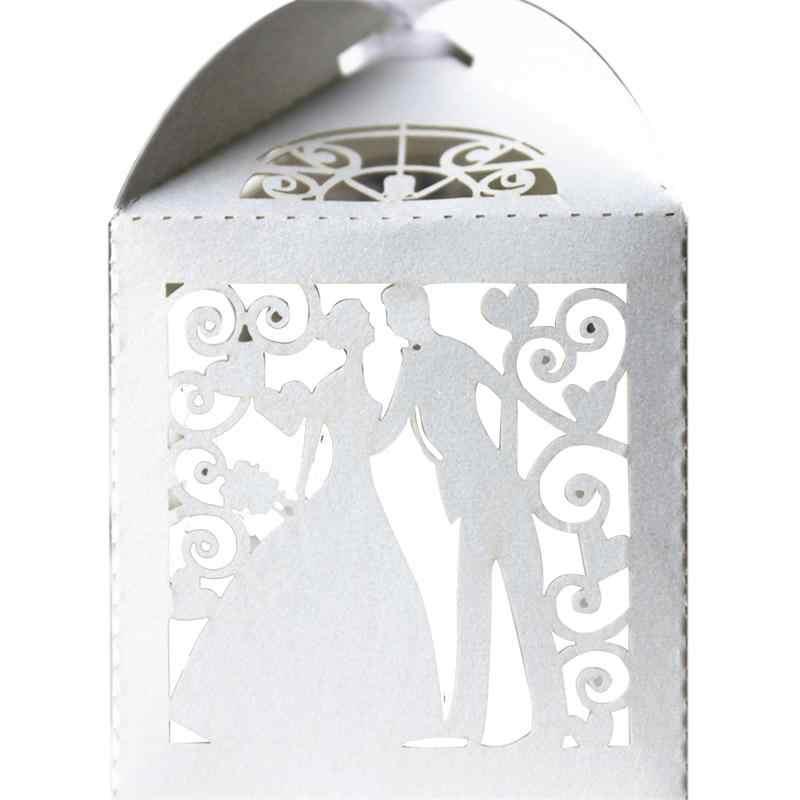 50 шт. полые коробки для невесты и жениха, Детские коробки для конфет, день рождения, свадебные украшения, бумажные подарочные коробки, детские принадлежности для душа