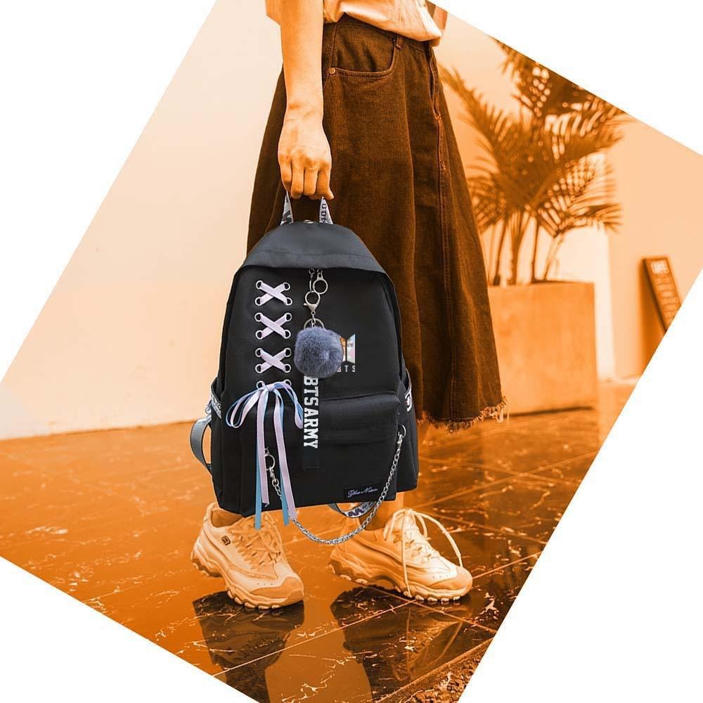 Backpacks Men's Bags New Bts Bangtan Boys Love Yourself Answer Jungkook Jimin Same Students Cool Shopping Travel Bag Backpack Harajuku Canvas Bag