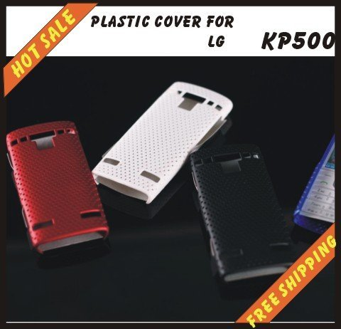Free shipping --New high quality more colours plastic cover case mobile phone cellphone for LG KP500