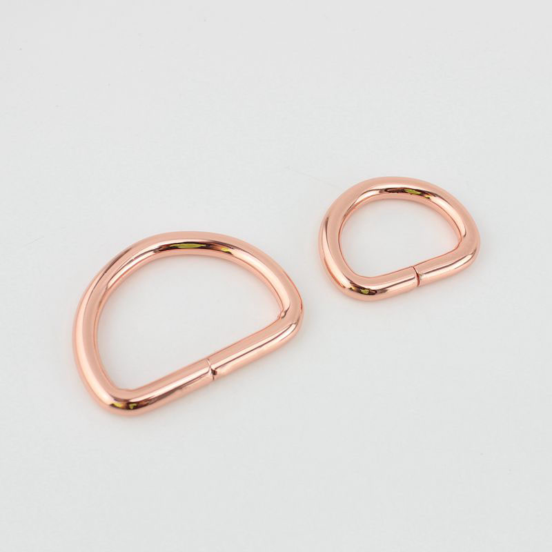 10pcs 50pcs 25mm 32mm 38mm Rose gold Opened d ring belt buckle 0106a3b6cc95