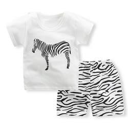 Комплект одежды для маленьких мальчиков, новый брендовый хлопковый комплект с короткими рукавами + штаны, Одежда для новорожденных-10