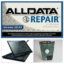 Newly alldata and mitchell software v10.53 auto repair software have been installed in 4GB Touch screen laptop X200t direct use!