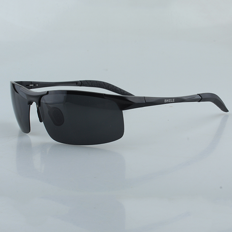 BIKELE Al-Mg alloy men Sunglasses polarized TAC lens uv400 eye protective Glasses for fishing driving Eyewear