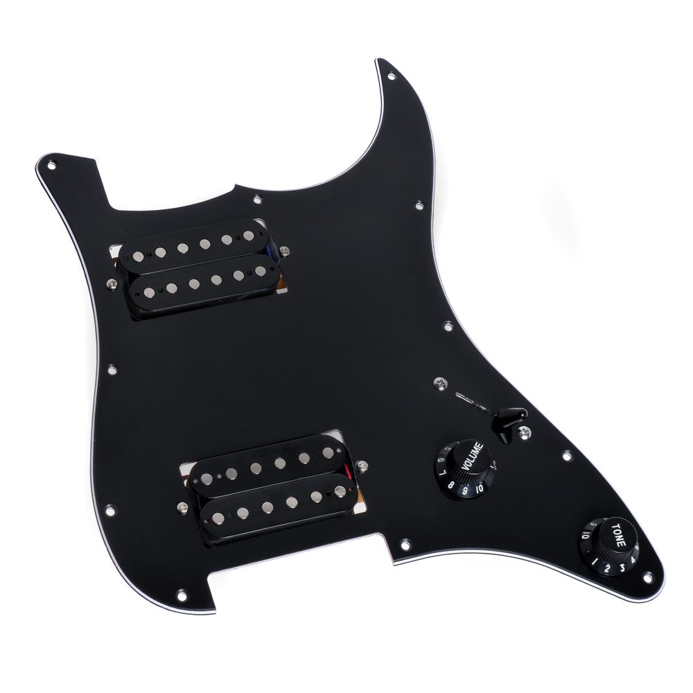 Electric Guitar Prewired Loaded Pickguard Scratch Plate Guitar Parts Replacement HH Humbucker 3Ply White Black wholesale 5x loaded prewired electric guitar pickguard pickups 11 hole hsh black