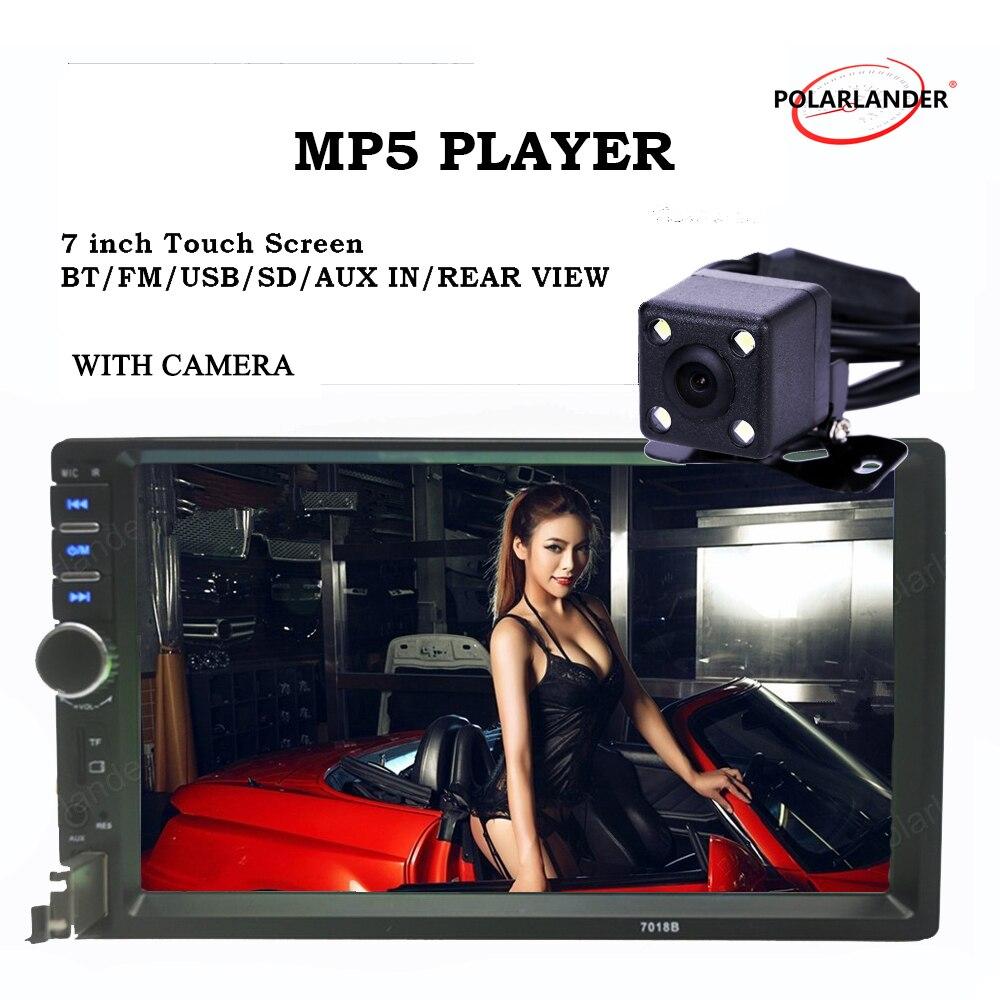 Rádio Do Carro 2 Din 7 Polegada MP5 MP4 player Bluetooth Auto de Áudio Estéreo USB/TF/AUX/FM com Entrada de Câmera traseira Bluetooth toque tela