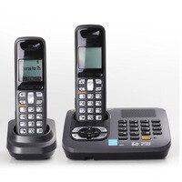Dwie Słuchawki 1.9 GHz Dect 6.0 Cyfrowy Podświetlenie Domu Bezprzewodowy Telefon Bezprzewodowy Telefon Naprawiono Telefon Z System Alarmowy Odpowiedzi